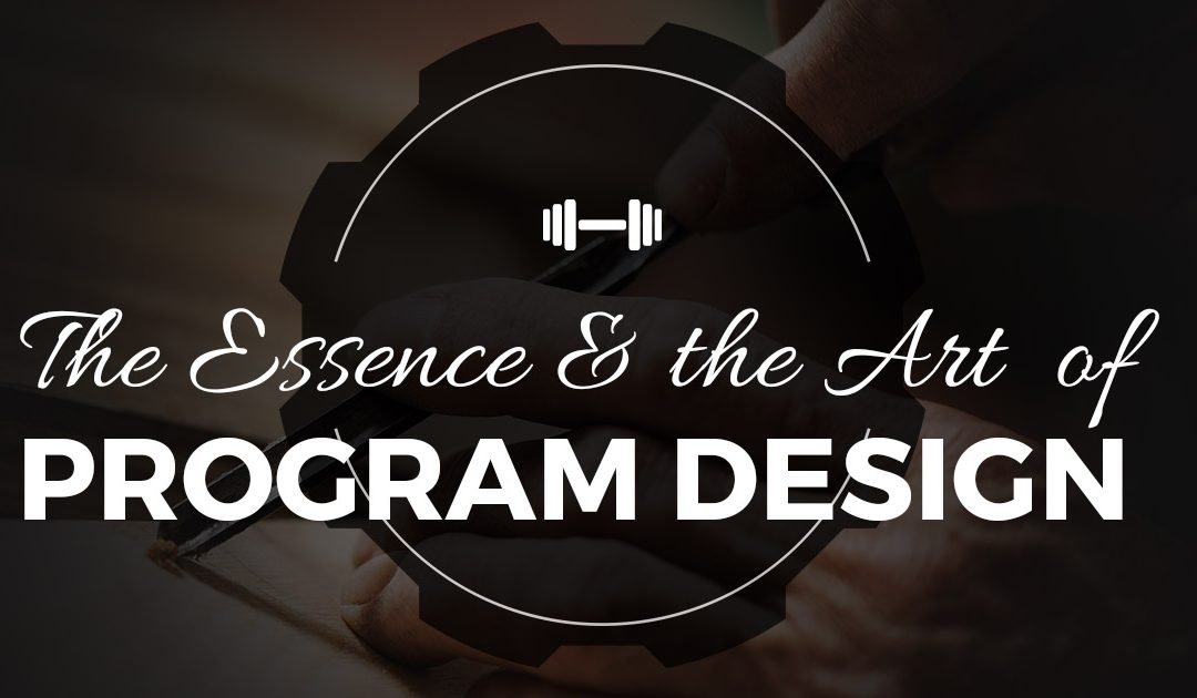 The Essence and the ART of Workout Program Design