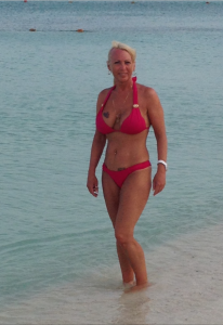 Christine rocking the bikini bod at 56! (No dieting, no cardio, no supplements.)