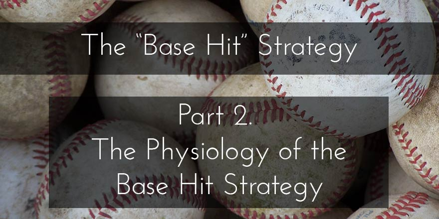 "The physiology of the base hit strategy (part 2 of the ""Base Hit Strategy"")"