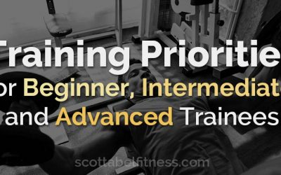Training Priorities for Beginner, Intermediate, and Advanced Trainees